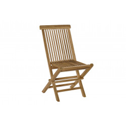 SILLA TECA  PLEGABLE NATURAL