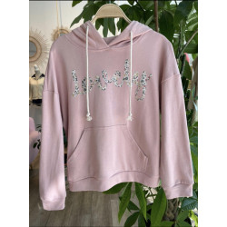 SUDADERA LOVELY GRIS/BLANCO/ROSA